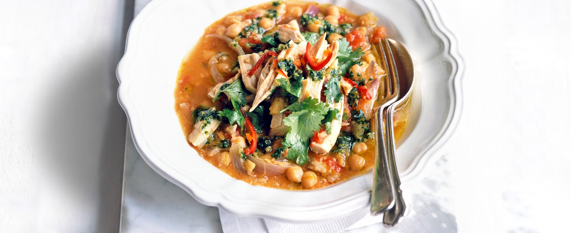 Turkey and chickpea stew