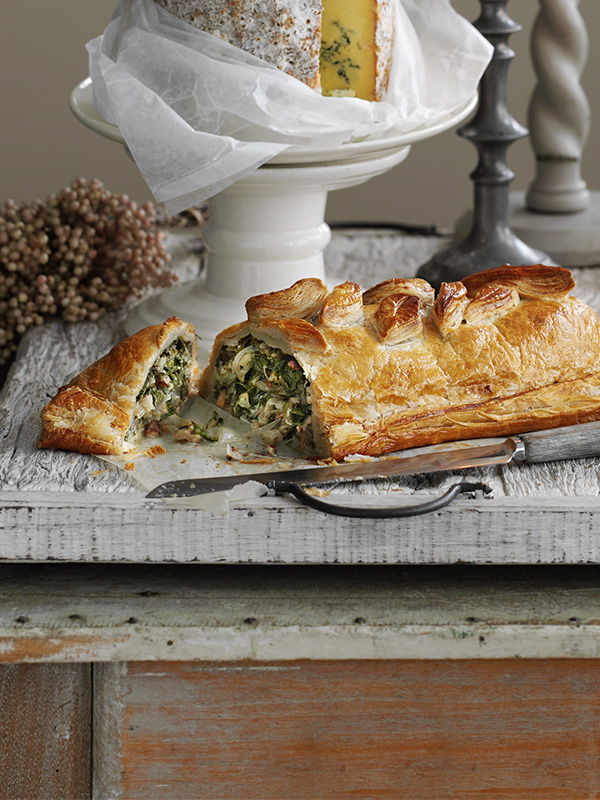 Vegetarian Wellington Recipe With Stilton, Chard and Walnut