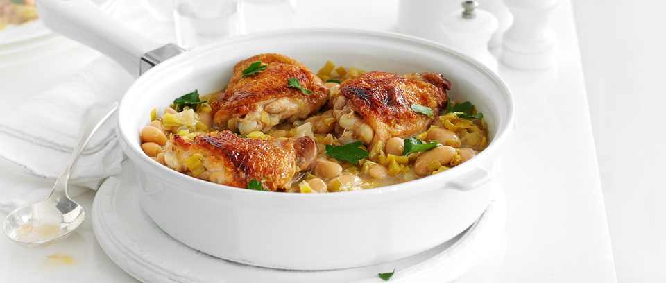 Chicken, leek and Dijon casserole