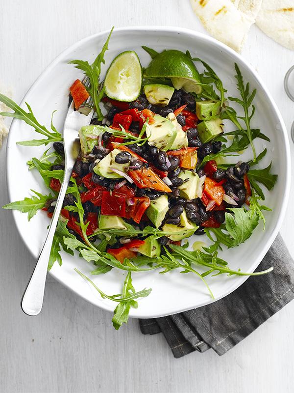 Tex-Mex black bean and avocado salad recipe