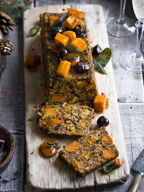 Vegetarian Loaf Recipe With Sweet Potato, Chestnut and Apricot