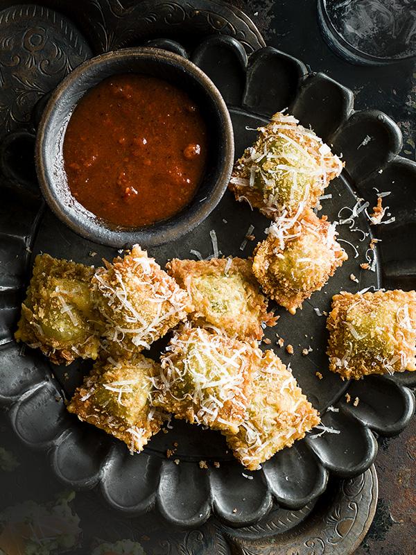 Truffled Spinach and Ricotta Ravioli Recipe