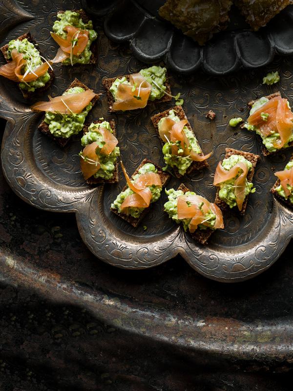 Smoked Salmon Tartine Recipe With Pea and Mint