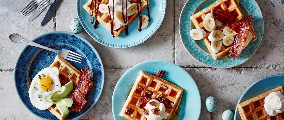 Mix and match brunch waffles recipe