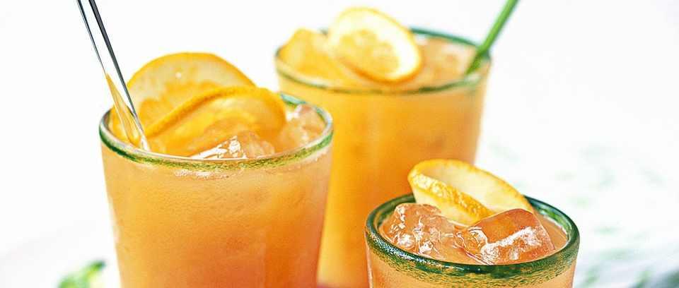 Blood orange Campari cocktails