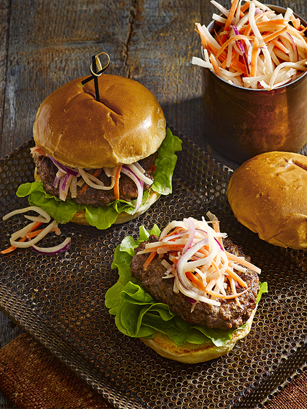Quick Korean burgers