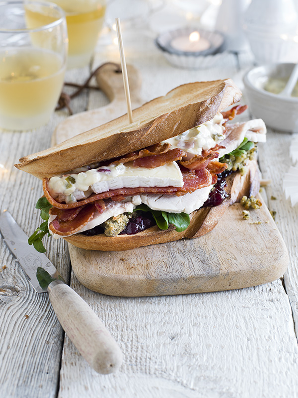 Ultimate Boxing Day stacked sandwich