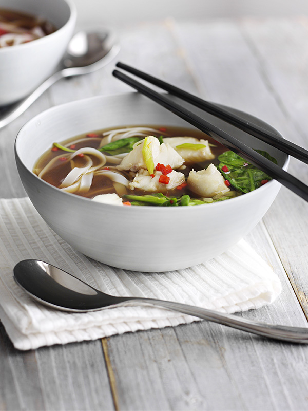 Asian hot and sour fish soup