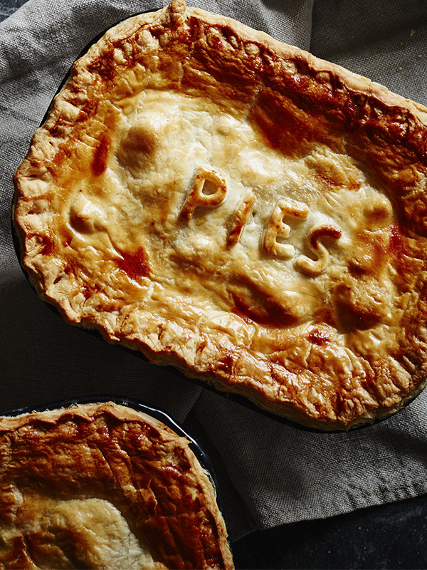 Mussel and prawn chowder pies
