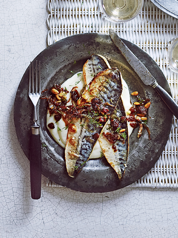 Mackerel with Cauliflower Purée Recipe