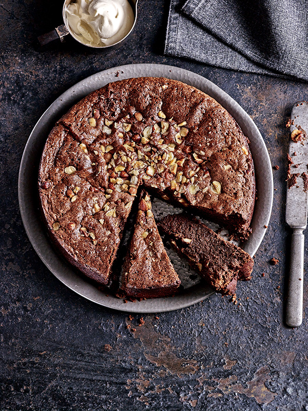 Sunken Nutella Cake with Baileys Cream Recipe