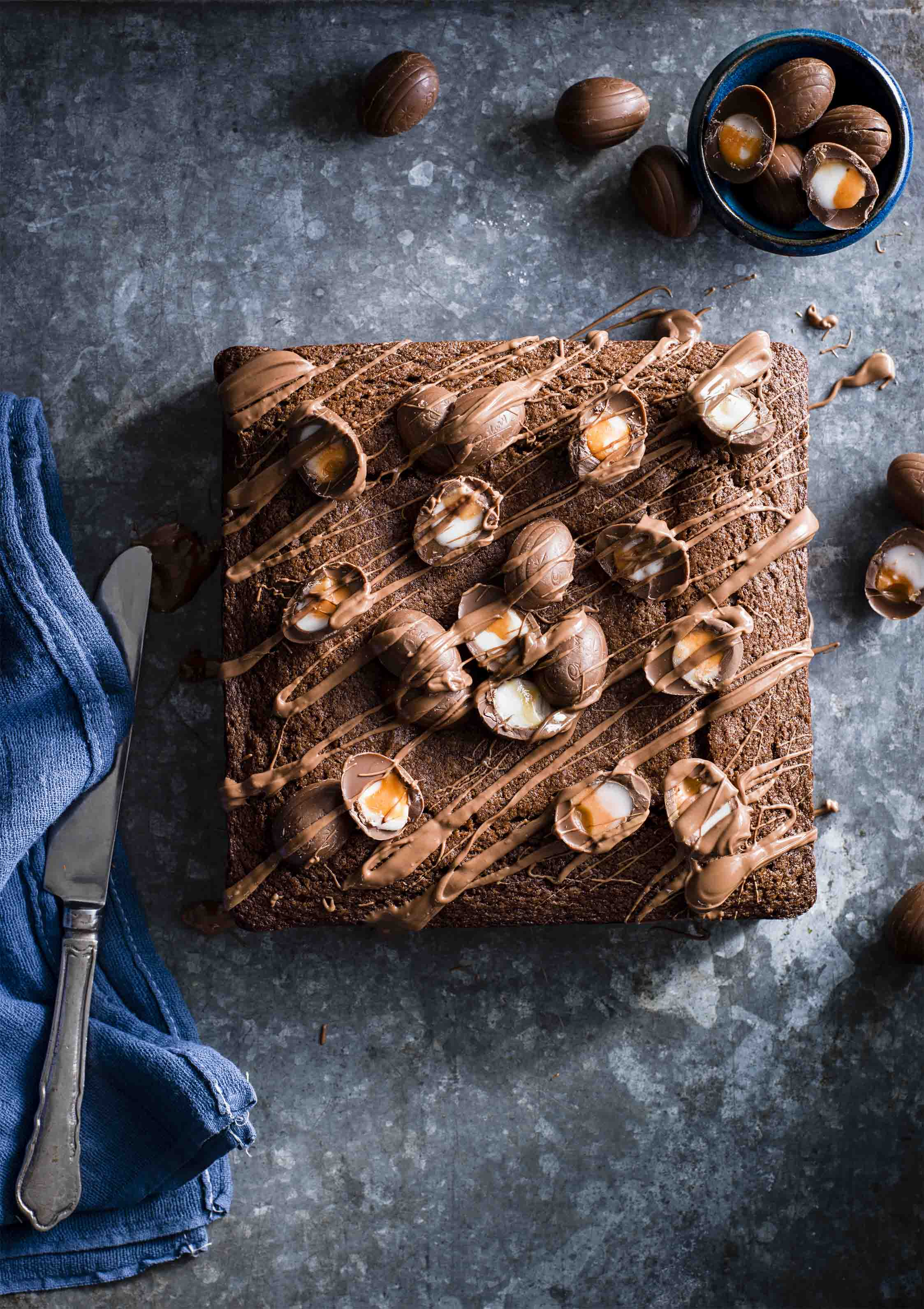Creme Egg Brownie Cake Recipe