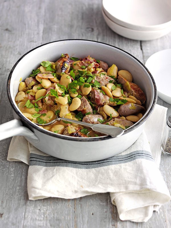 Sausage and butterbean casserole