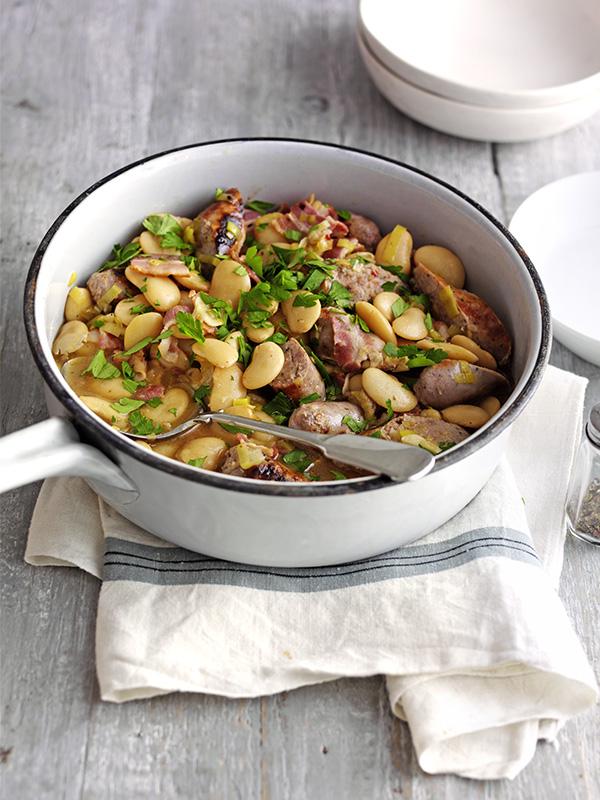 Sausage and butterbean casserole