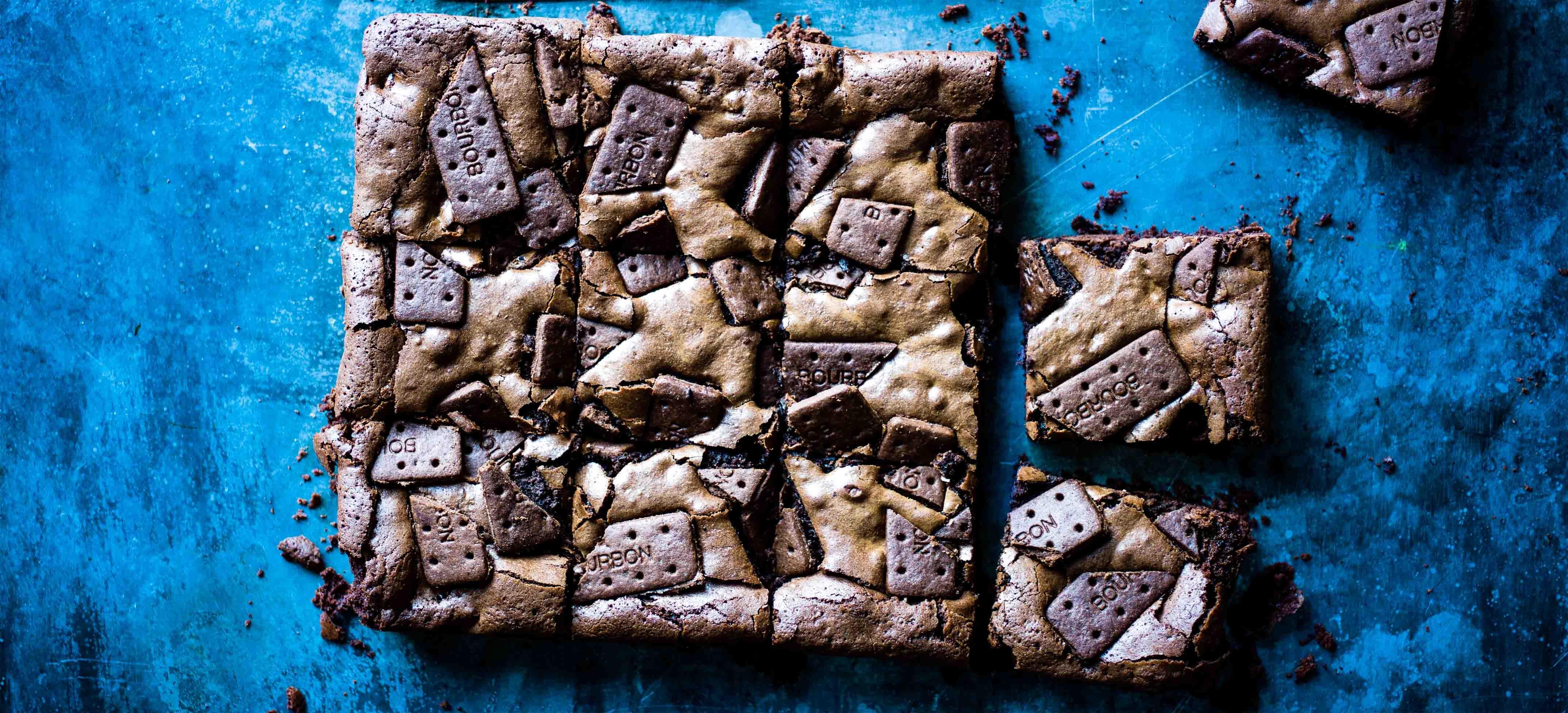 Bourbon Biscuit Chocolate Brownies Recipe