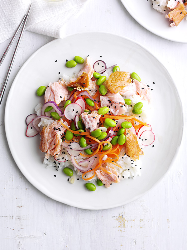 Smoked Salmon Sushi Salad Recipe