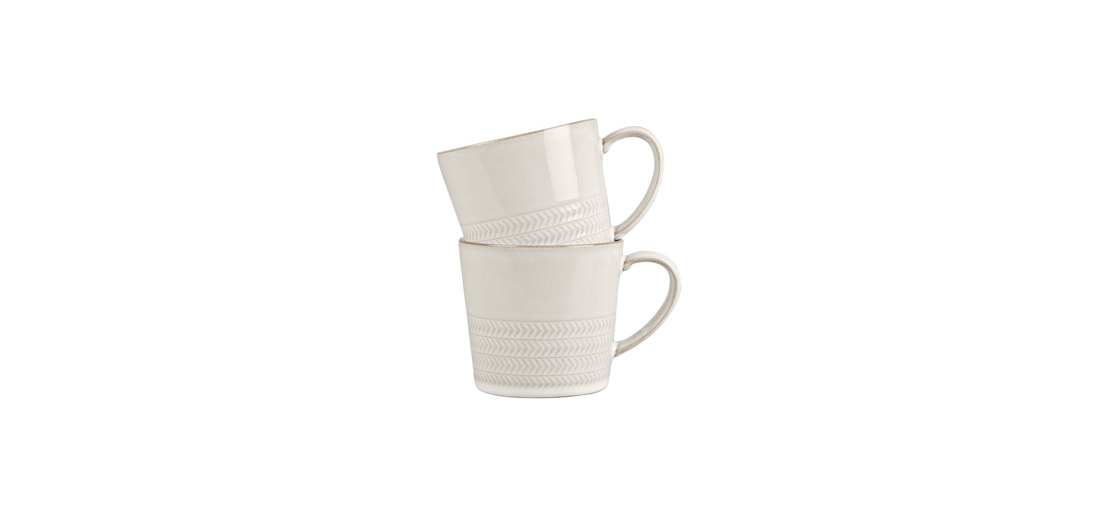 Denby natural canvas textured large mug