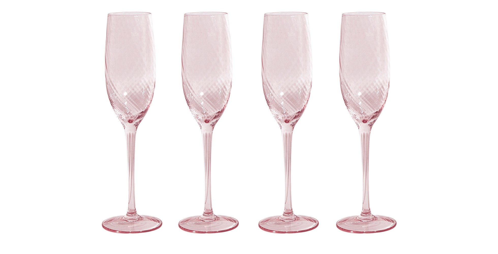 Spring Blooms Champagne Flutes