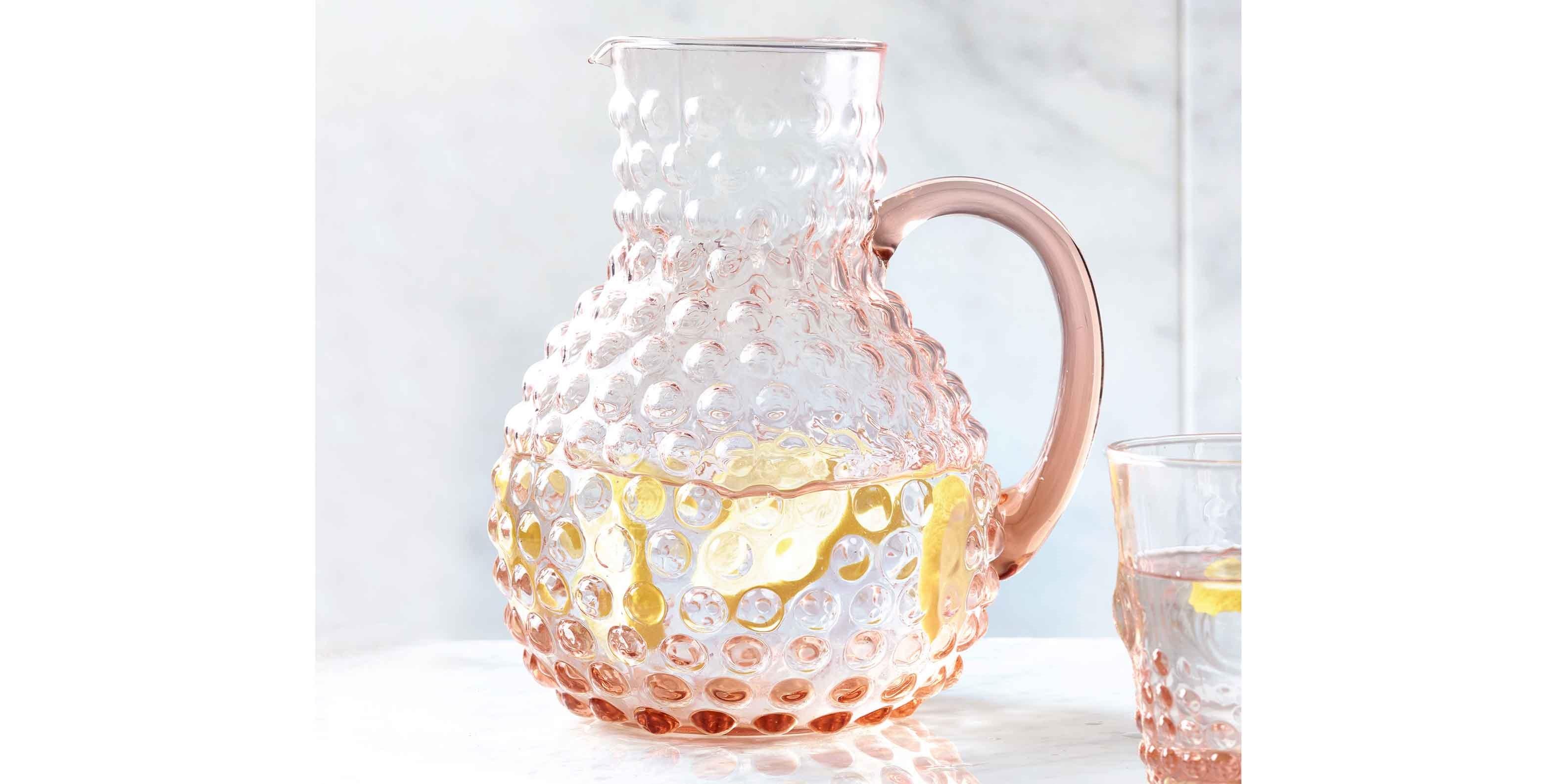 embossed pitcher jug
