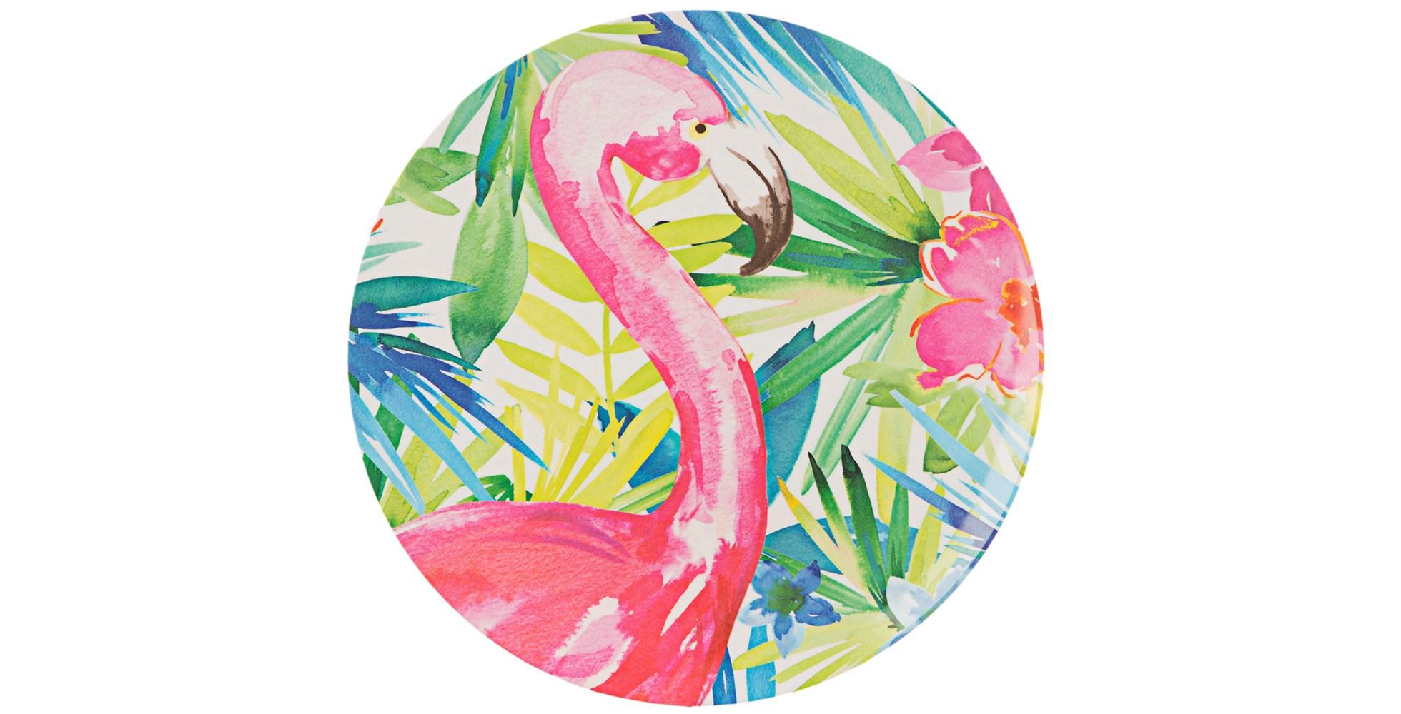 tropical flamingo platter