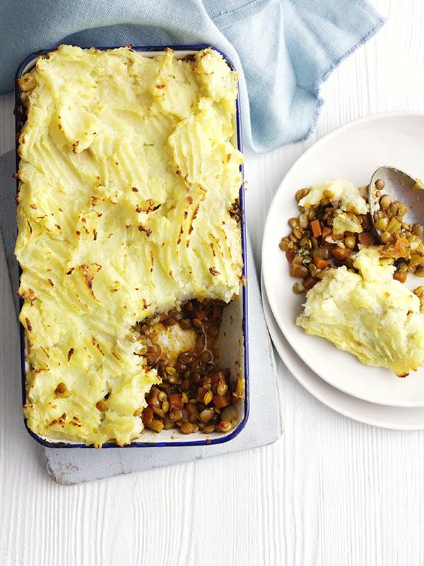 Spiced lentil shepherd's pie
