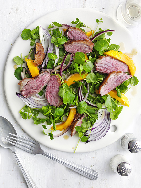 Duck, Mango and Watercress Salad Recipe