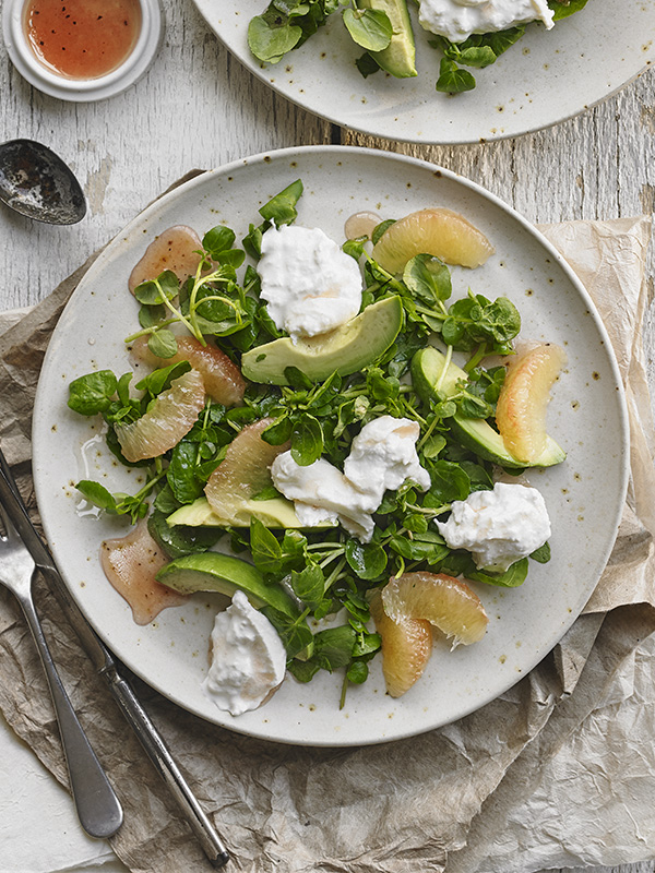 Avocado and Watercress Salad With Pink Grapefruit - olive ...