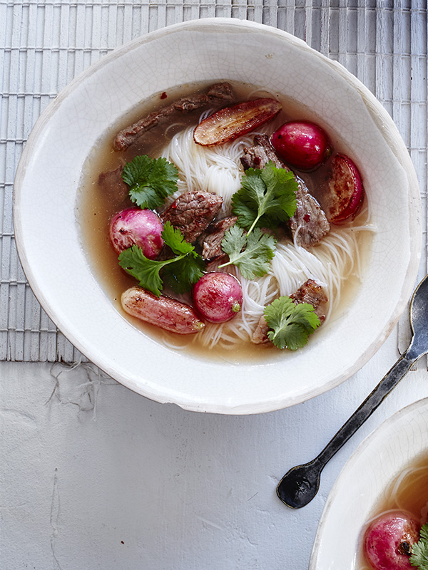 Chilli Beef Noodle Soup Recipe With Radishes