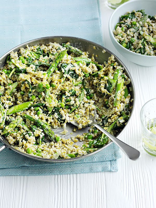 Freekeh Risotto Recipe With Spring Greens