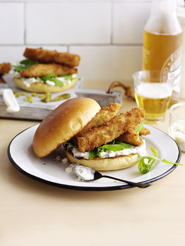 posh fish finger sandwich