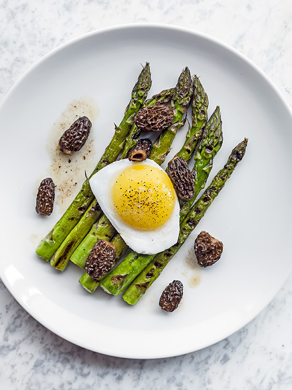 Chargrilled asparagus