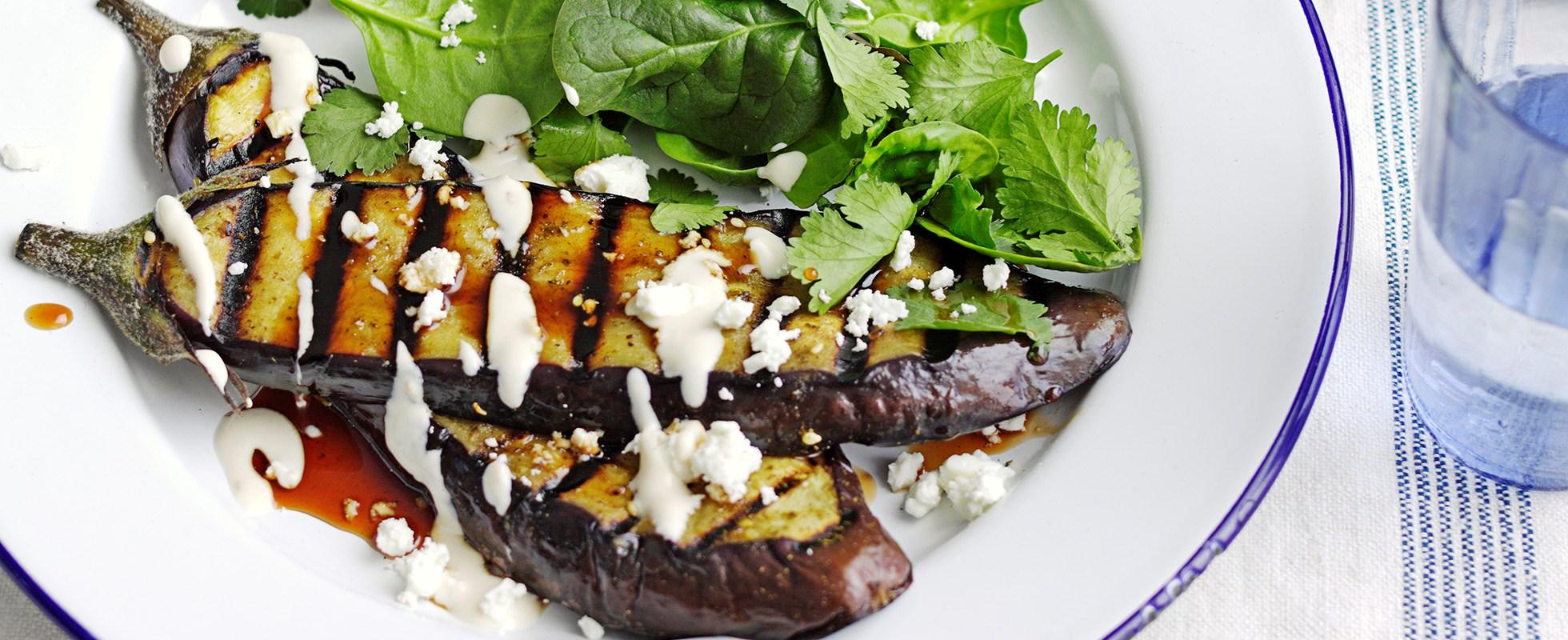 Za'atar aubergine steaks