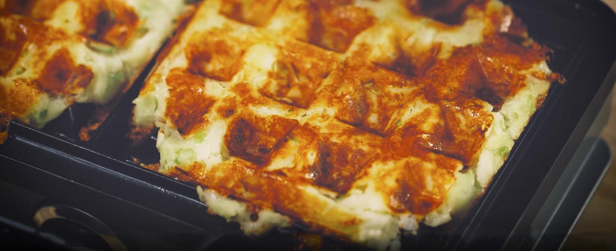 Video: how to make cheesy potato waffles