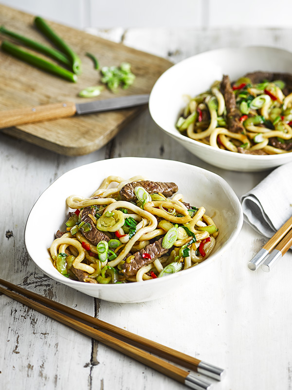 Shanghai Noodles Recipe with Fried beef