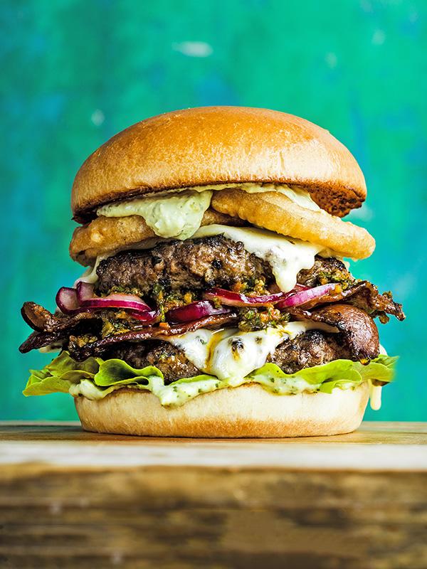 Ultimate grillable vegan burgers - olive