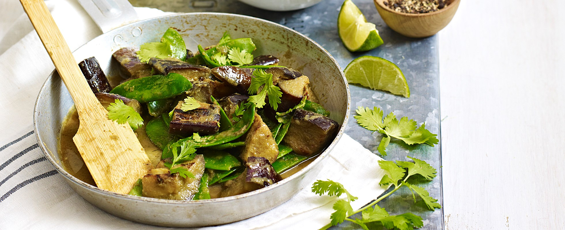 Aubergine Thai jungle curry