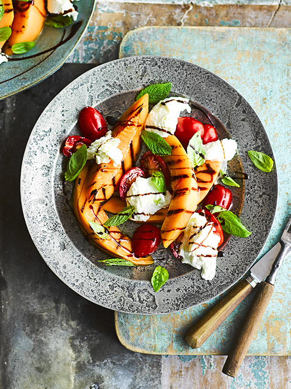 Grilled Melon Caprese Salad Recipe