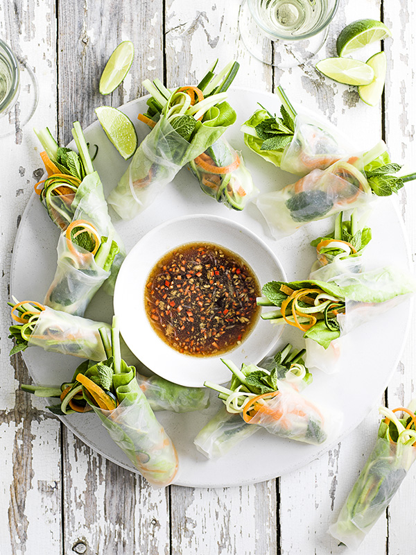 Summer Rolls Recipe With Courgetti