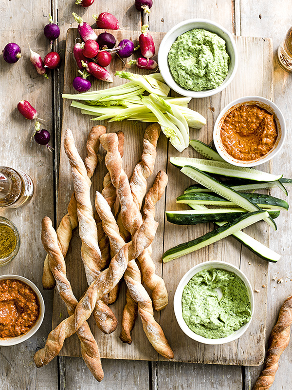 Vegetarian Dip Recipes With Homemade Breadsticks