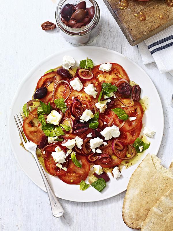 Marinated Tomato Sala Recipe With Feta