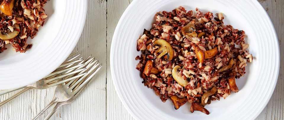 Wild rice and mushroom risotto