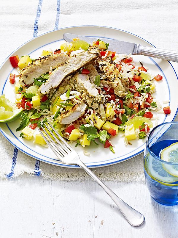 Mojito Chicken Recipe with Wild Rice Salad