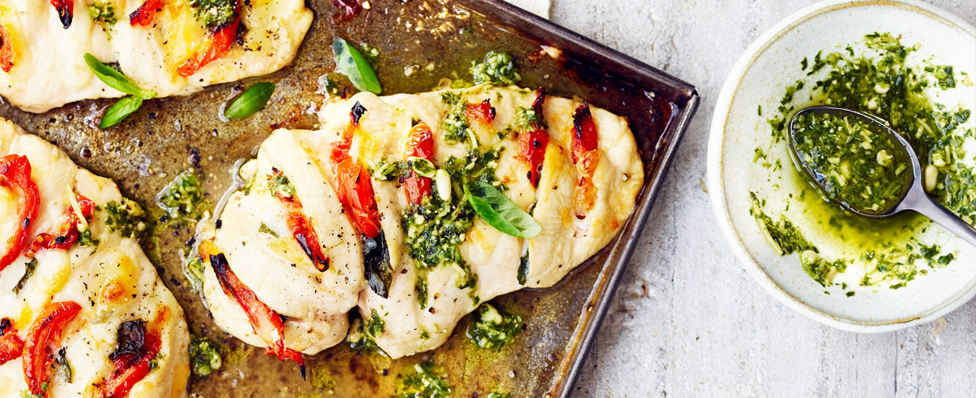 Hasselback chicken tray bake