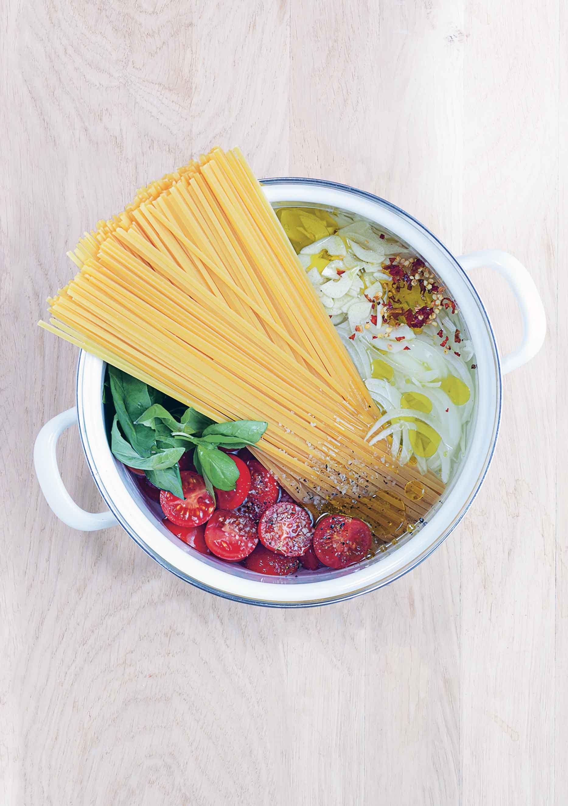 One-Pot Tomato and Basil Pasta Recipe