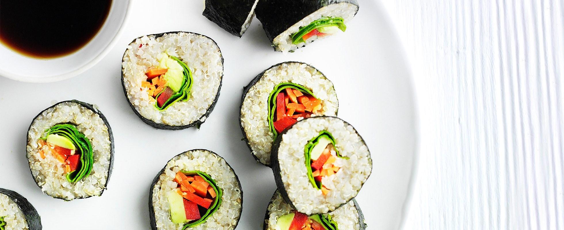 veg quinoa sushi
