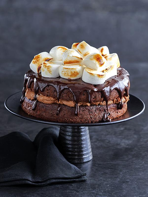 OTT chocolate s'mores cake