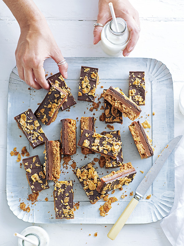 Honey Nut Cornflake and Caramel Bars Recipe