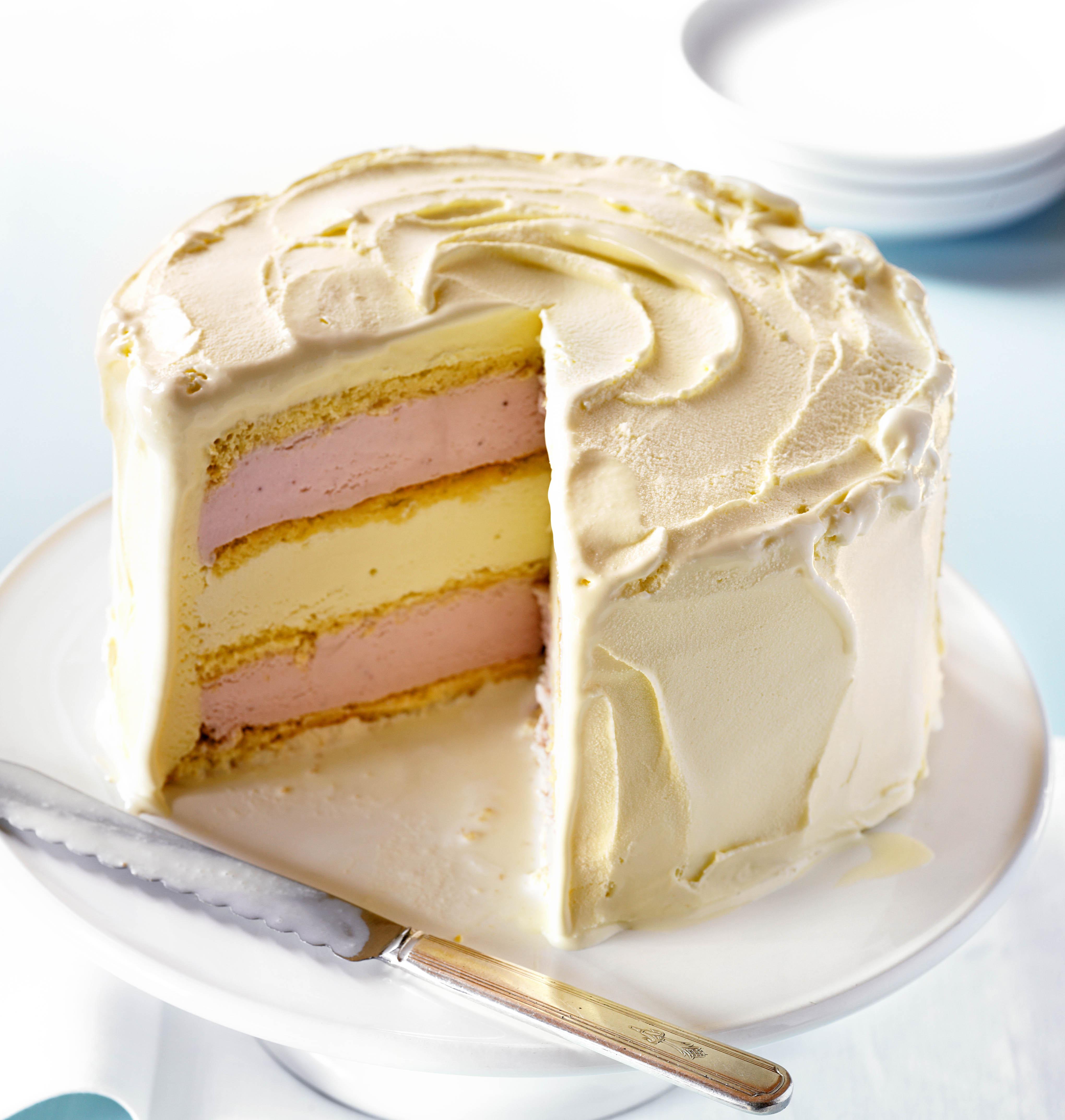 White Chocolate Ice Cream Cake
