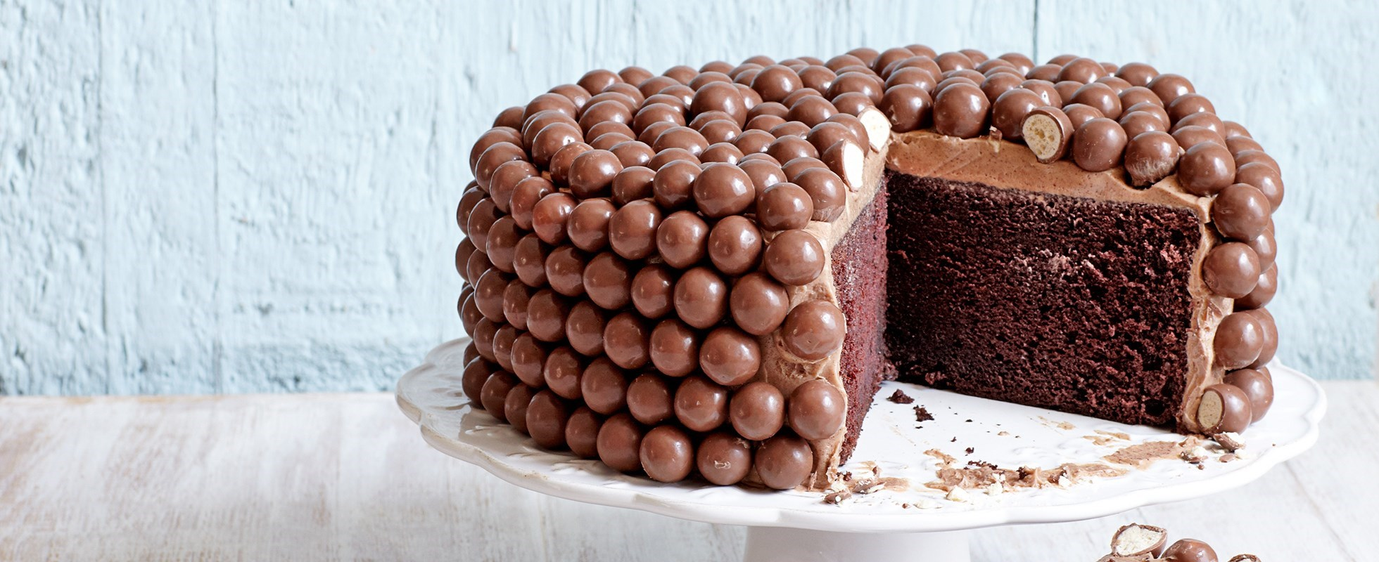 Maltesers chocolate chiffon cake