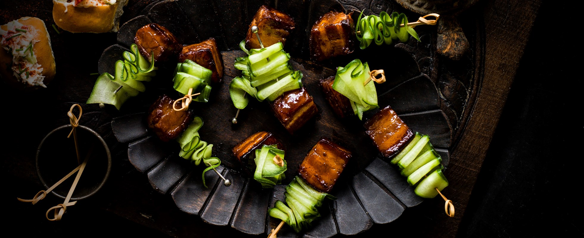 Best ever platter recipes for an impressive dinner party spread incorporate a taste of the orient into your dinner party spread with these easy pork belly skewers with vietnamese caramel sauce forumfinder Choice Image